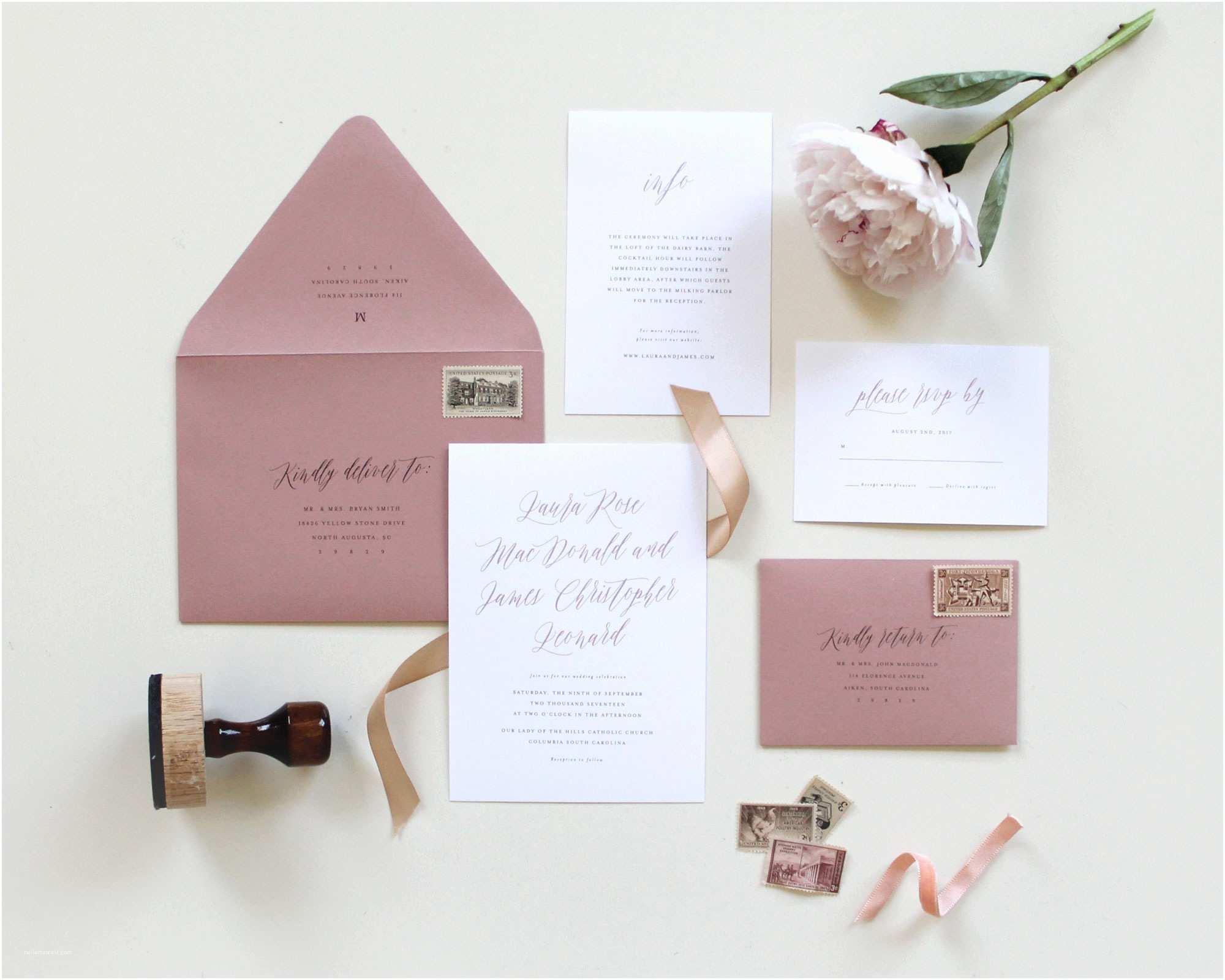 Mauve Wedding  Dusty Rose Wedding