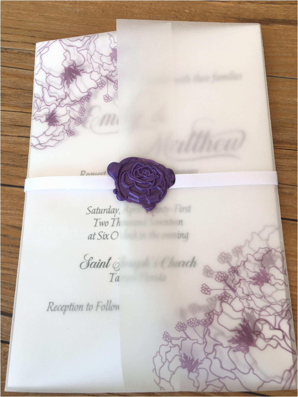 Mauve  Invitations Lavender Purple  Invitation Folder