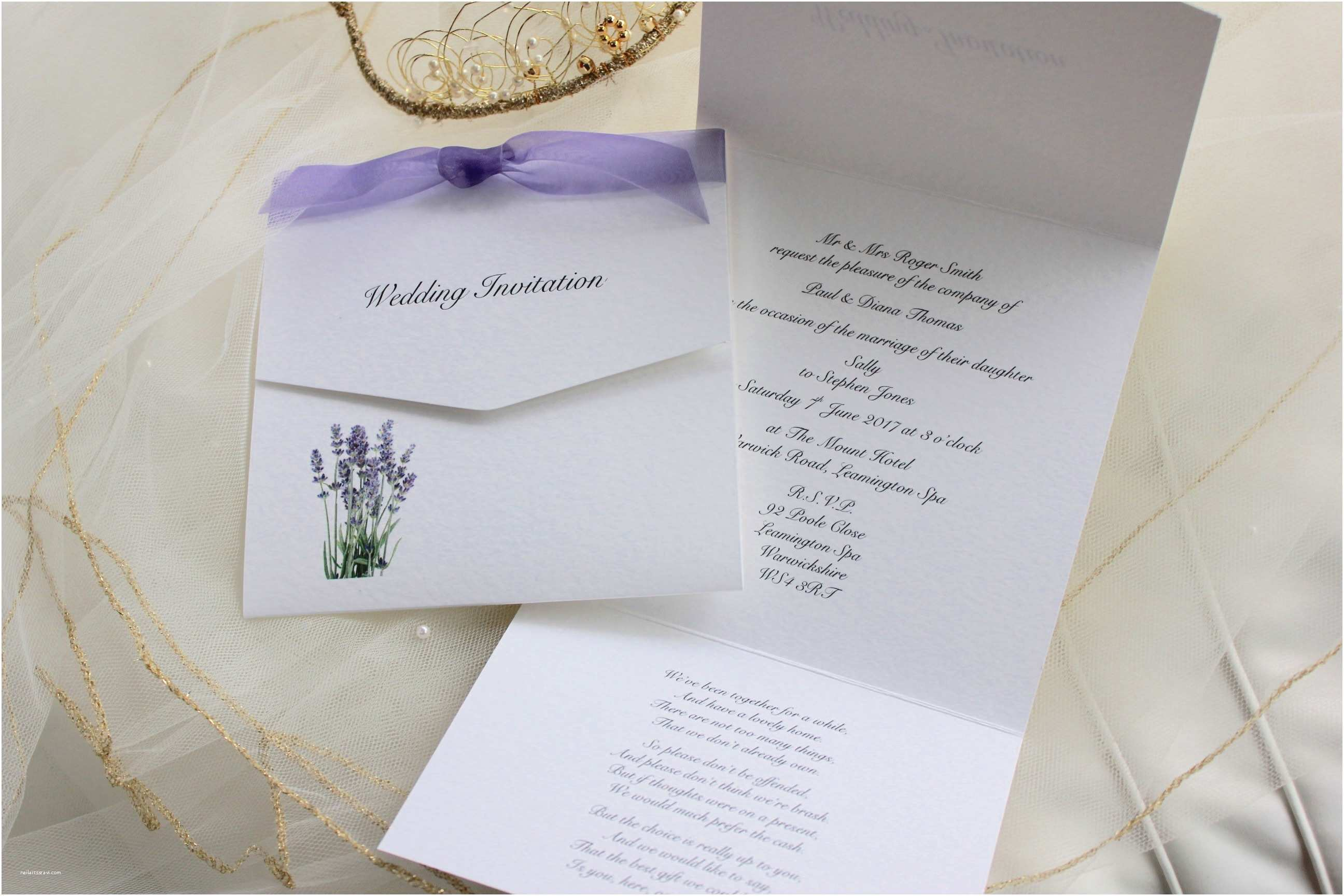 Mauve Wedding Invitations Lavender Tri Fold Wedding Invitations