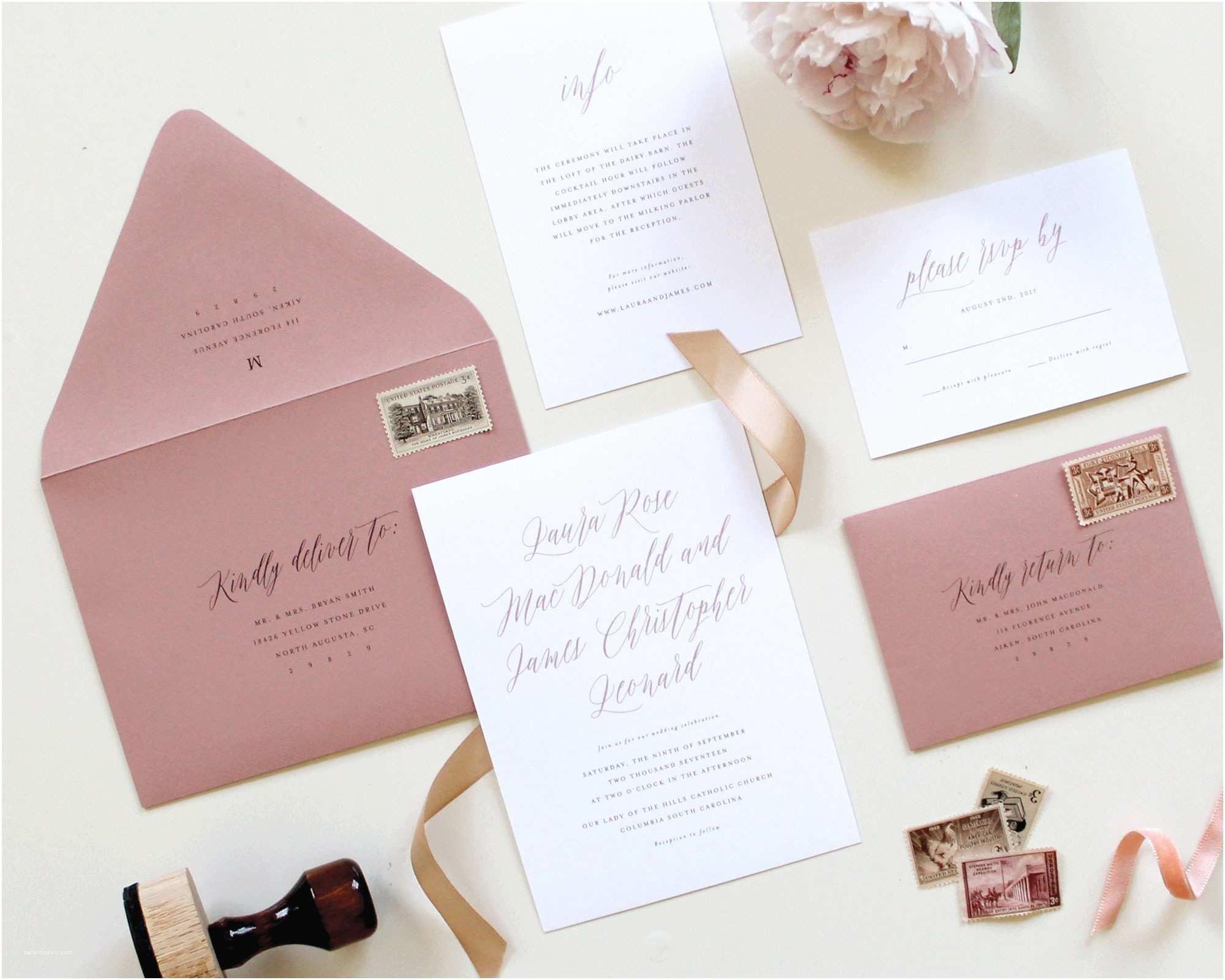 Mauve Wedding Invitations Mauve Wedding Invitations