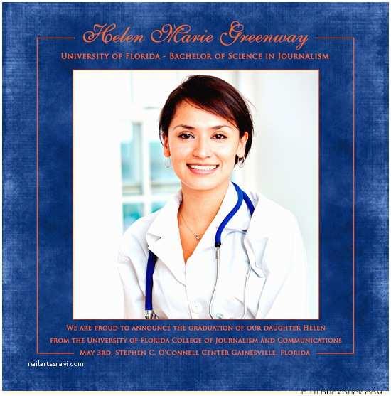 Medical School Graduation Invitations Medical School Graduation Card Nursing Degree