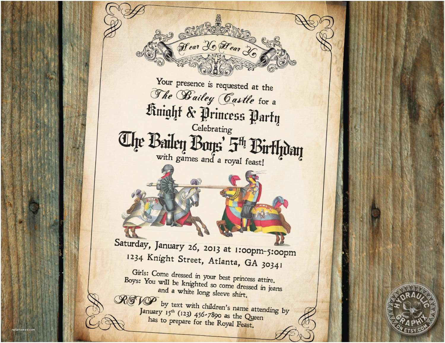 Medieval Wedding Invitations 10 Imposing Me Val Wedding Invitations for You