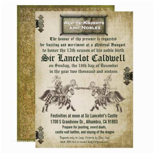 Medieval Wedding Invitations Me Val Renaissance Birthday Wedding Invitation