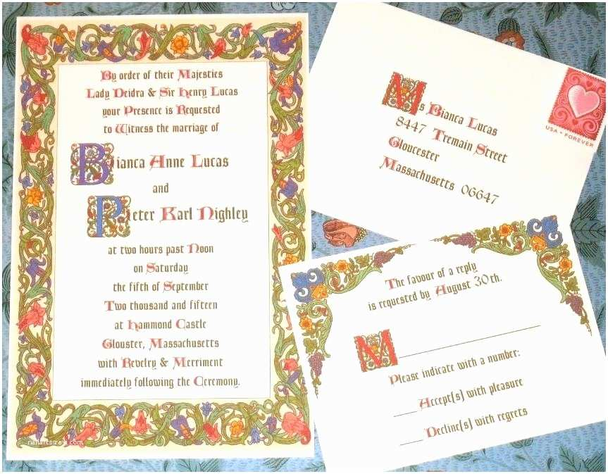 Medieval Wedding Invitations Old Fashioned Me Val Wedding Invitation Wording Gallery