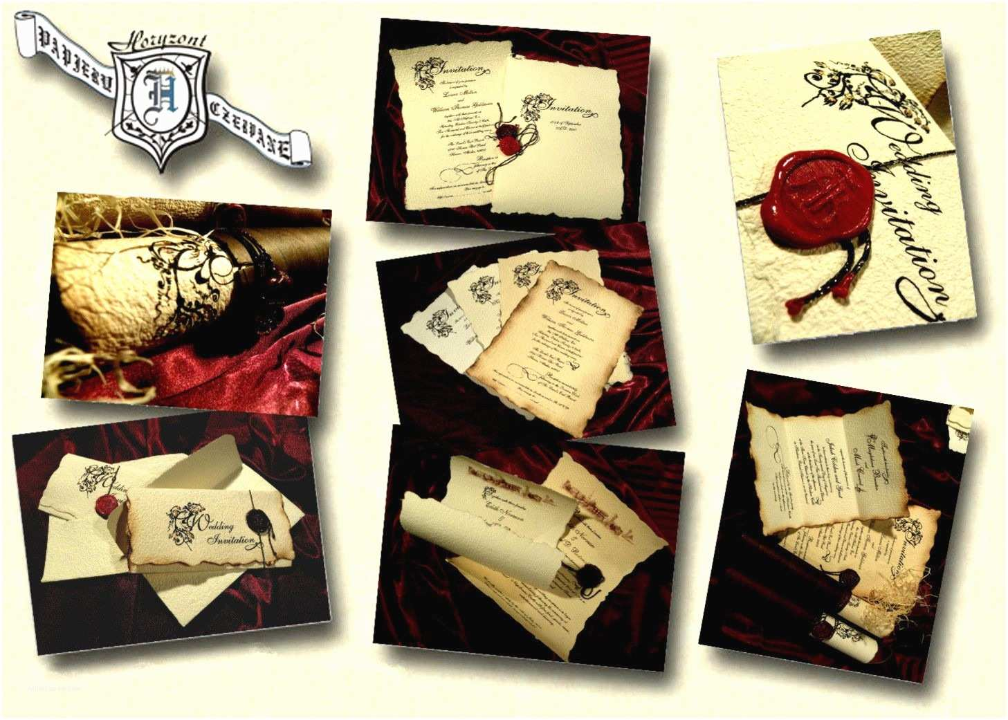 Medieval Wedding Invitations Parchment Old English or Renaissance themed Wedding