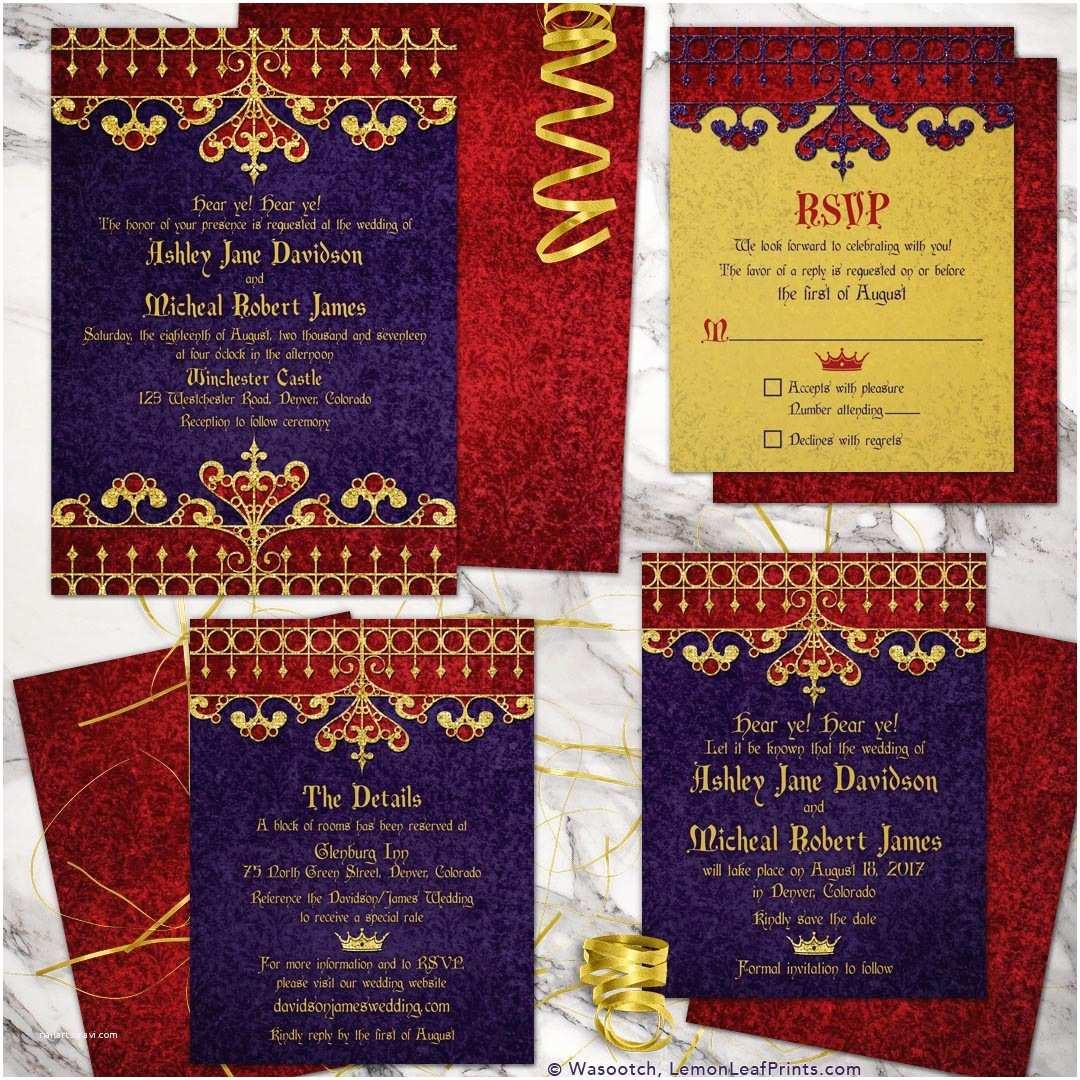 medieval wedding invitations - HD1080×1080