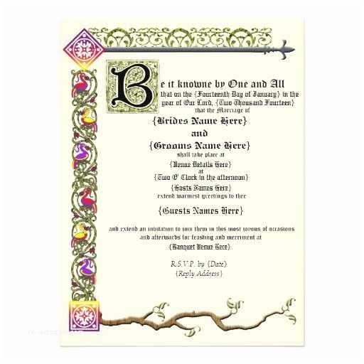 Medieval Wedding Invitations Wording Me Val Scroll Wedding Invitation