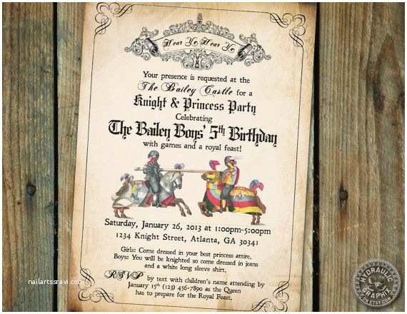 Medieval Wedding S Wording Me Val Times Or Renaissance Birthday Party