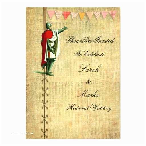 "Medieval Wedding Invitations Wording Me Val Wedding Invitations 5"" X 7"" Invitation"