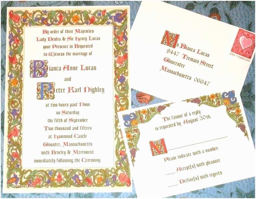 Medieval Wedding Invitations Wording Old Fashioned Me Val Wedding Invitation Wording Gallery
