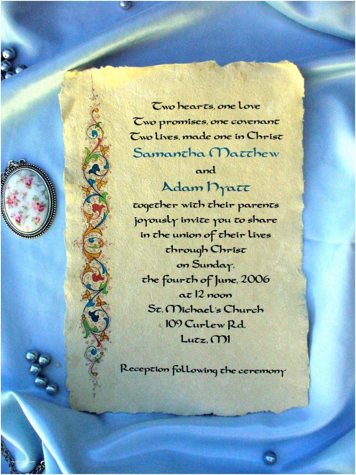 Medieval Wedding Invitations Wording Personalised Me Val Wedding Invitations Gothic
