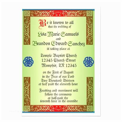 Medieval Wedding Invitations Wording Renaisaince Me Val Wedding Invitation