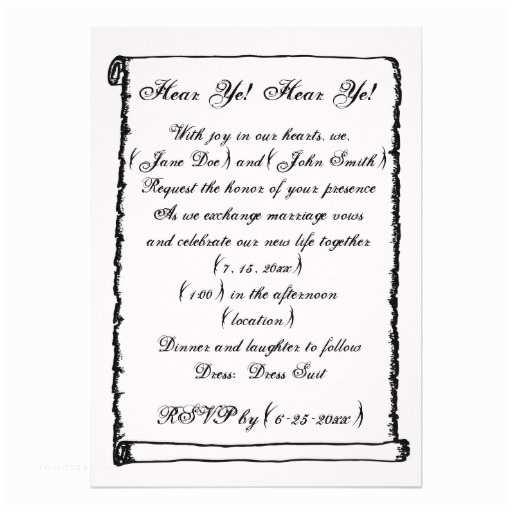 Medieval Wedding Invitations Wording Simple Vintage Scroll Me Val Border Wedding Custom