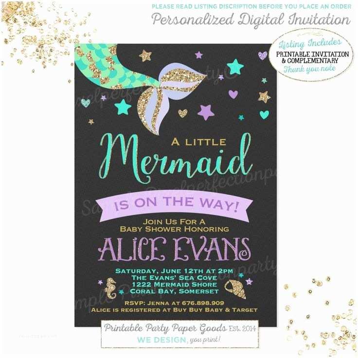 Mermaid Baby Shower Invitations Best 25 Mermaid Baby Showers Ideas On Pinterest