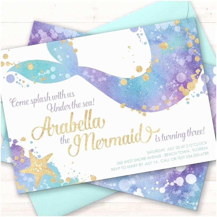 Mermaid Birthday Invitations Best 25 Mermaid Invitations Ideas On Pinterest