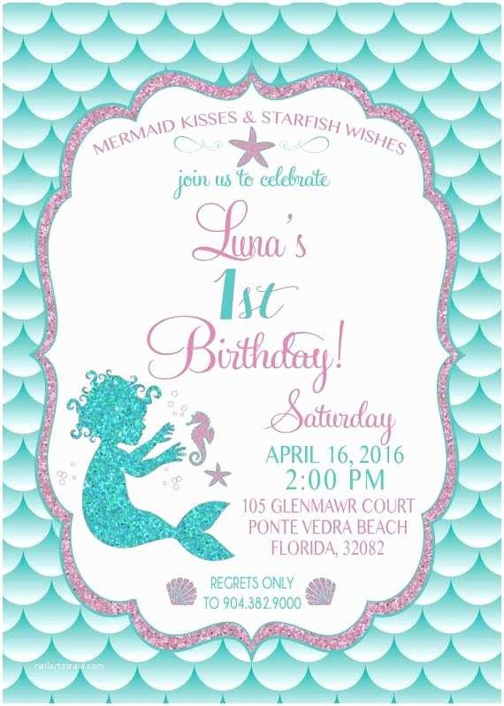 Mermaid Birthday Party Invitations Best 25 Mermaid Party Invitations Ideas On Pinterest