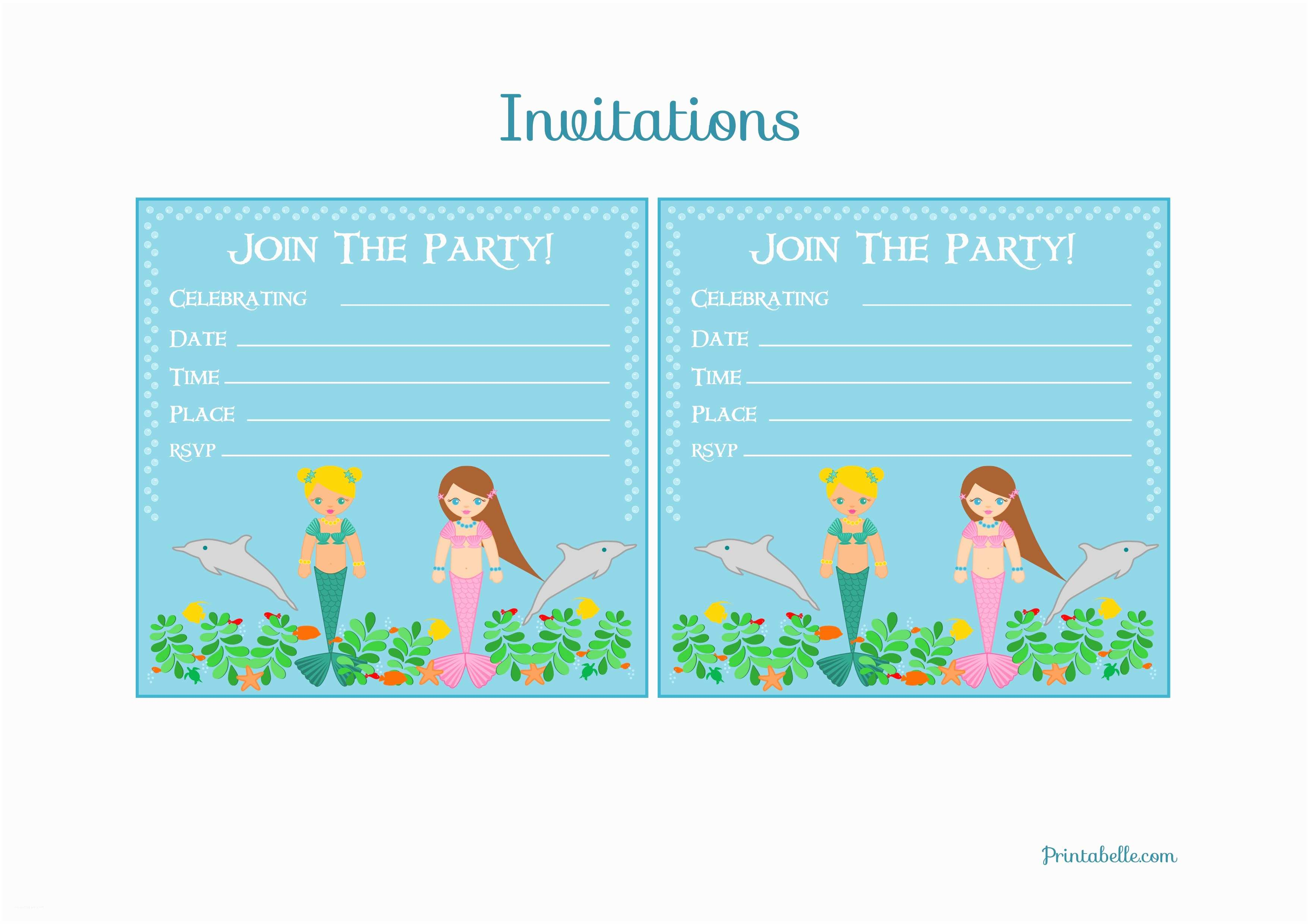free mermaid birthday party printables from printabelle