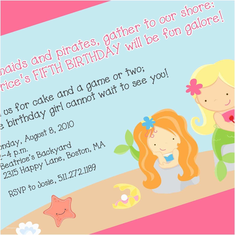 Mermaid Birthday Party Invitations Mermaid Party Invitation Mermaid Birthday theme Mermaid