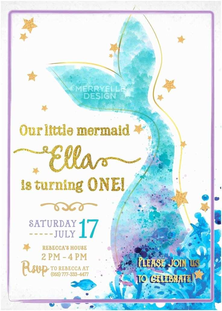 Mermaid Birthday Party Invitations the 25 Best Mermaid Birthday Invites Ideas On Pinterest