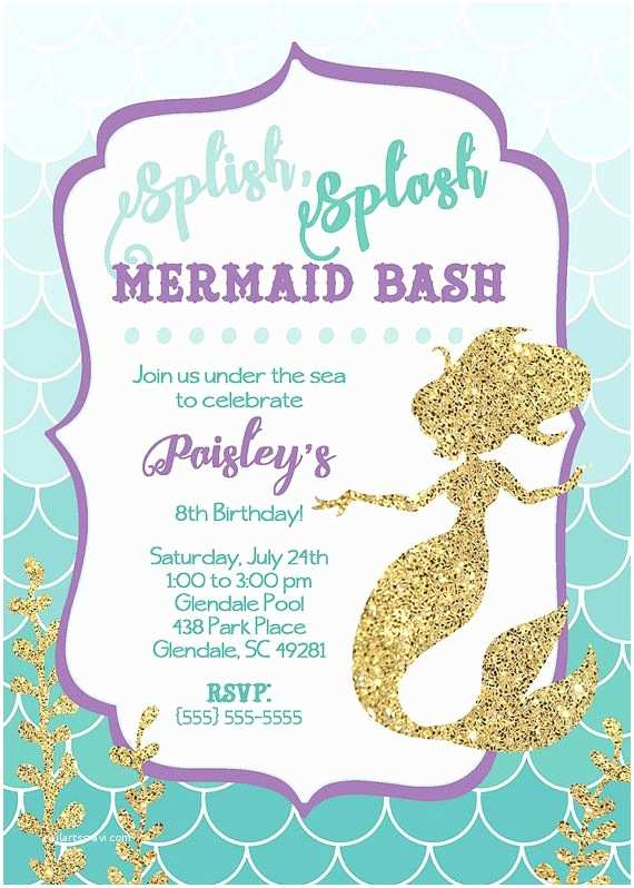 Mermaid Party Invitations 17 Best Ideas About Mermaid Party Invitations On Pinterest