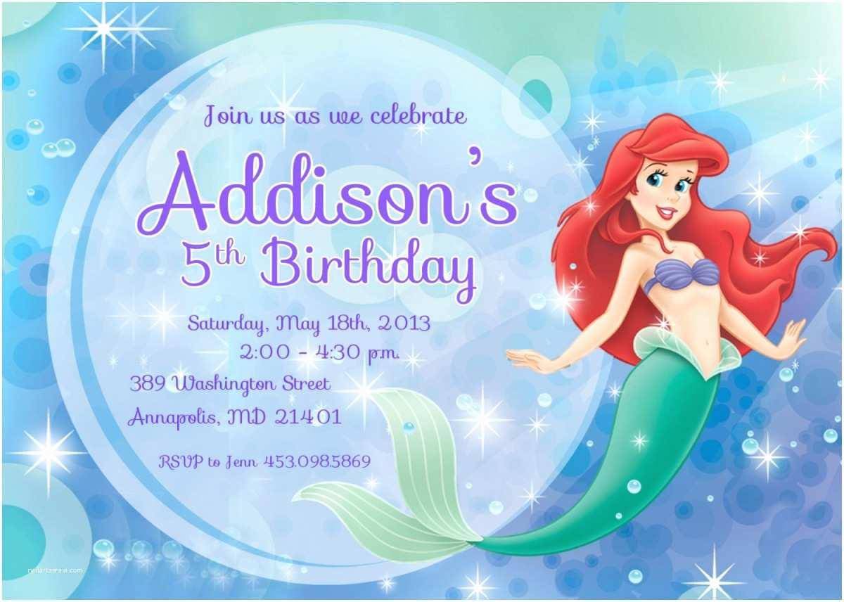 Mermaid Party Invitations 9 Best Of Free Mermaid Printable Invitation