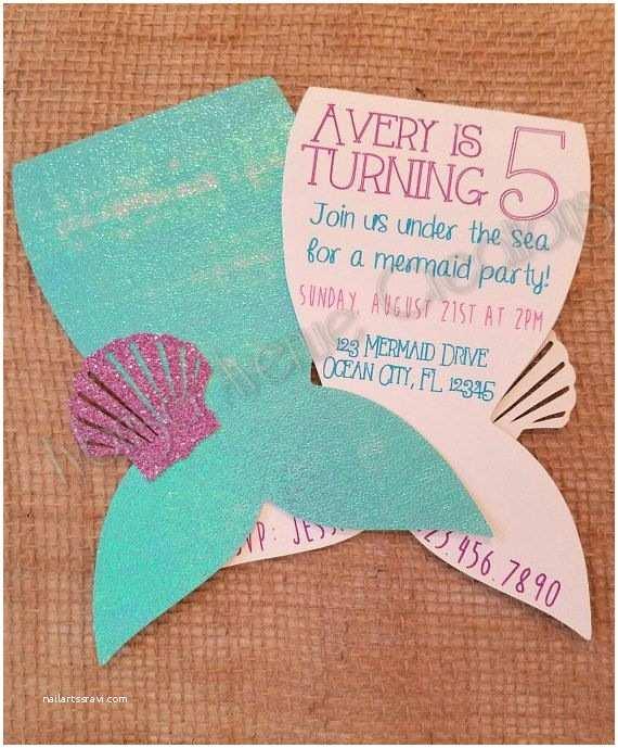 Mermaid Party Invitations Best 25 Mermaid Invitations Ideas On Pinterest