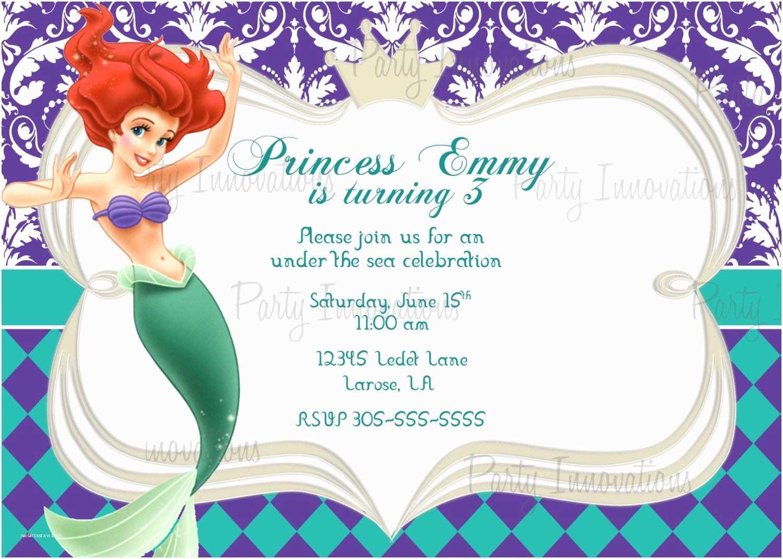 Mermaid Party Invitations Download Free Template Little Mermaid Printable Birthday