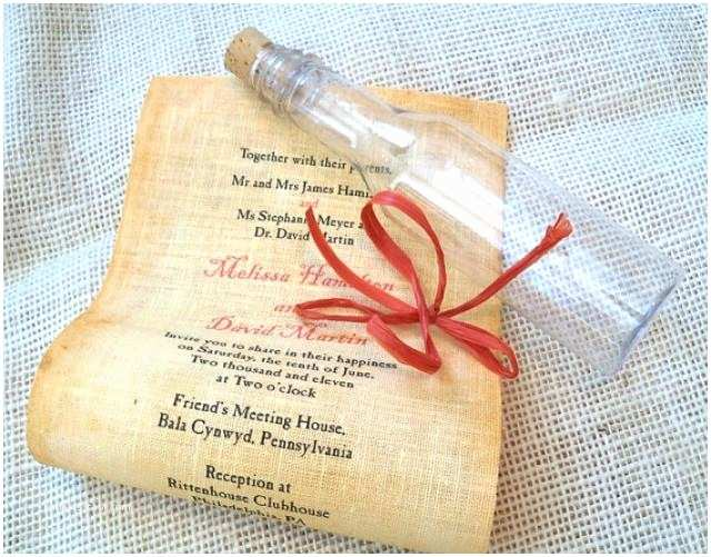 Message In A Bottle Wedding Invitations Message In A Bottle Wedding Invitation Sample