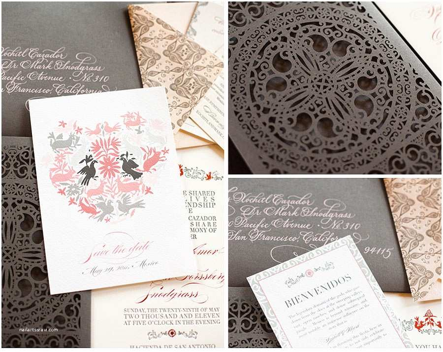 Mexican Inspired Wedding Invitations Ailin S Blog In This Centerpiece the Flowers are Glue