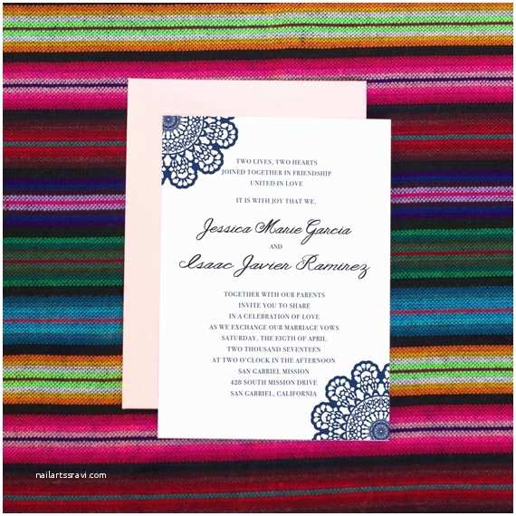 Mexican Inspired Wedding Invitations Mexican Wedding Invitation Mexican theme Fiesta by