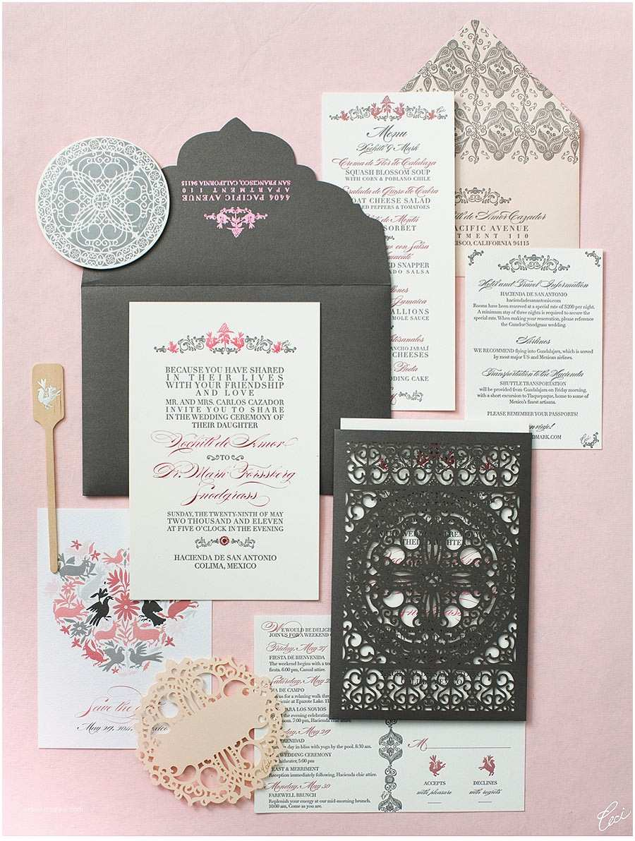 Mexican Inspired Wedding Invitations V77 Our Muse Elegant Mexican Wedding Xochitl & Mark
