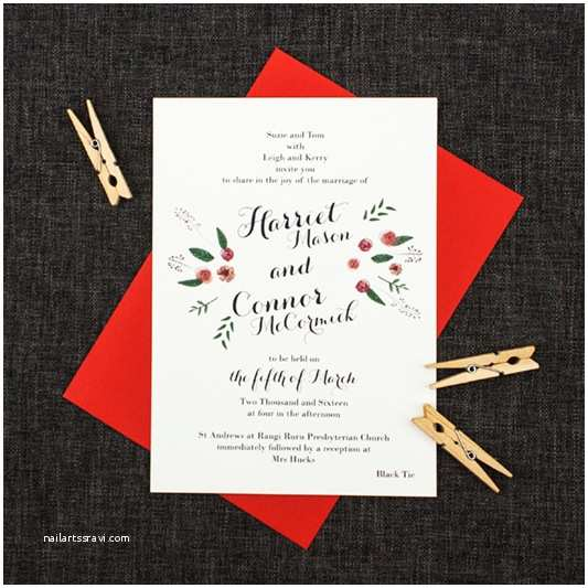 Mexican Inspired Wedding Invitations Watercolour Roses Mexican Inspired Wedding Invitations