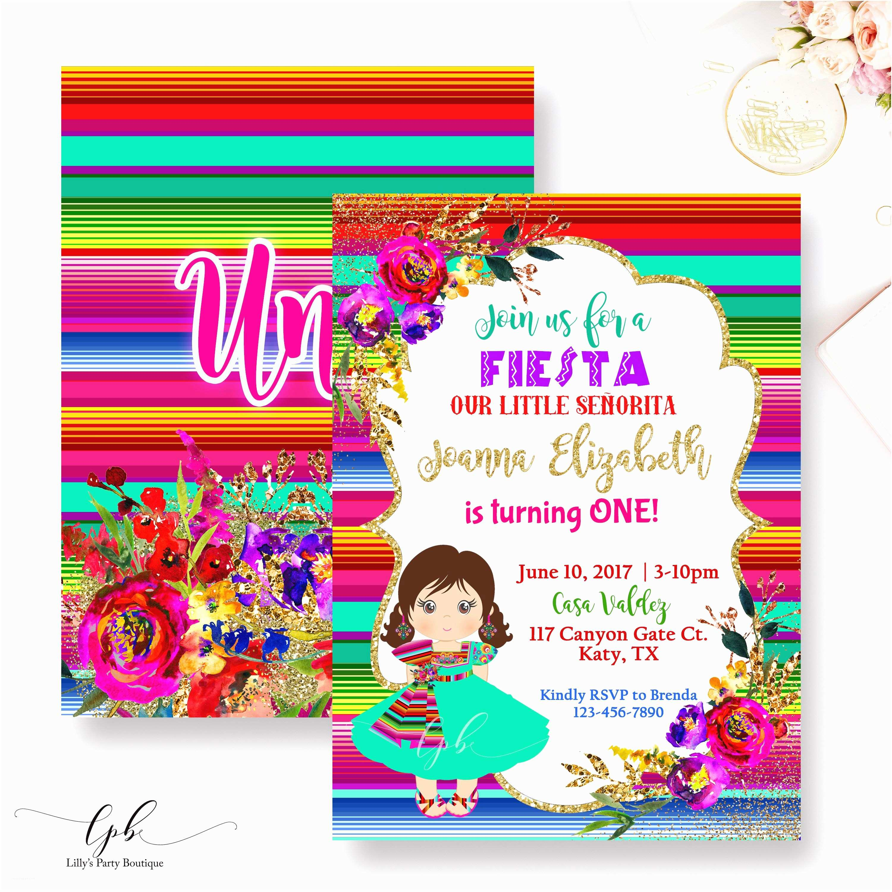 Mexican Party Invitations Fiesta Birthday Invitation Mexican Fiesta Birthday