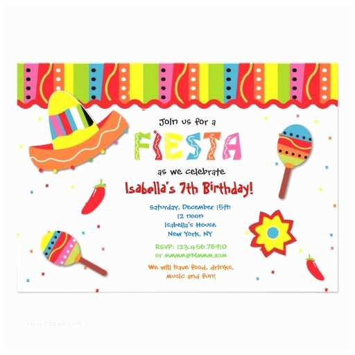 Mexican Party Invitations Mexican Fiesta Birthday Party Invitations