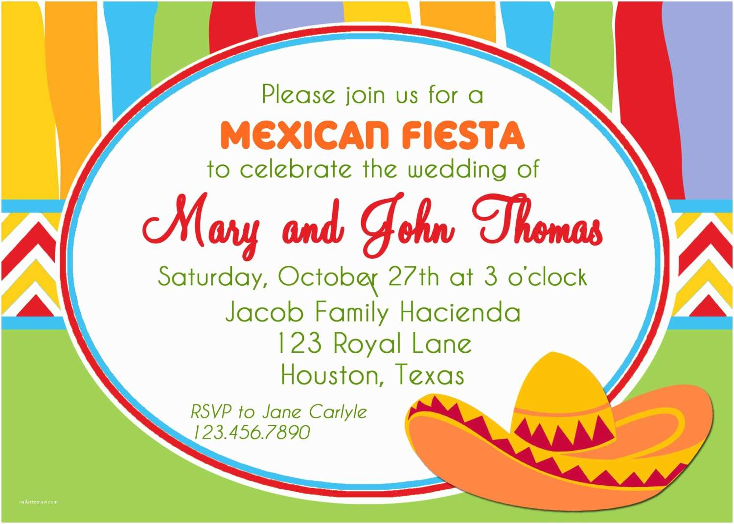 Mexican Party Invitations Fiesta Invitation Printable Or Printed With Free