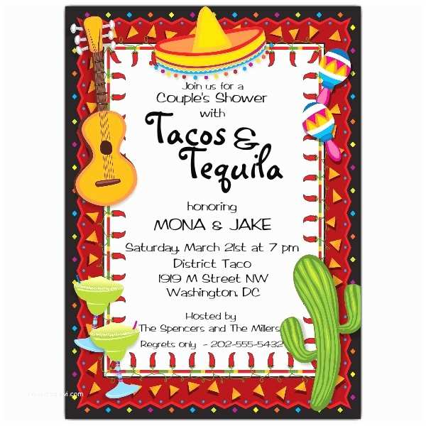 Mexican Party Invitations Mexican Party Fiesta Invitations