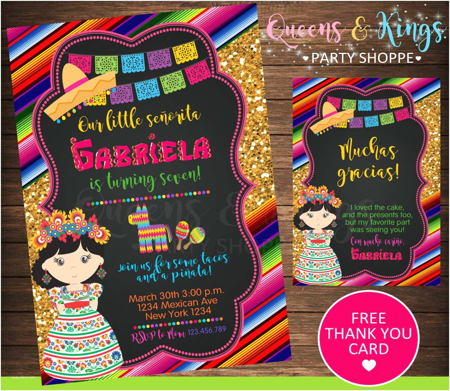 Mexican Party Invitations Mexican Party Mexican Invitation Fiesta Invitation Mexico
