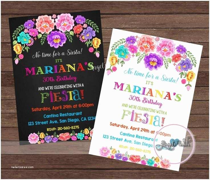 Mexican Themed Party Invitations Free Editable Fiesta Invitation