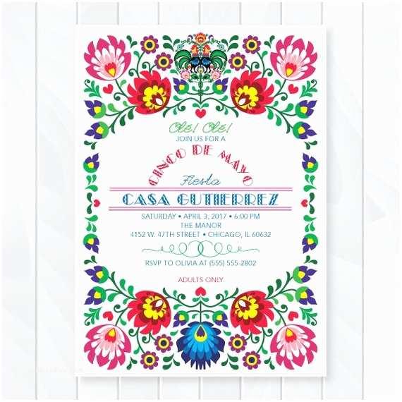 Mexican Themed Party Invitations Cinco De Mayo Invitations Mexican  Invites