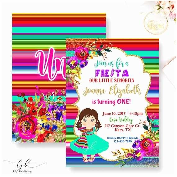 Mexican Themed Party Invitations Fiesta  Invitation Mexican Fiesta