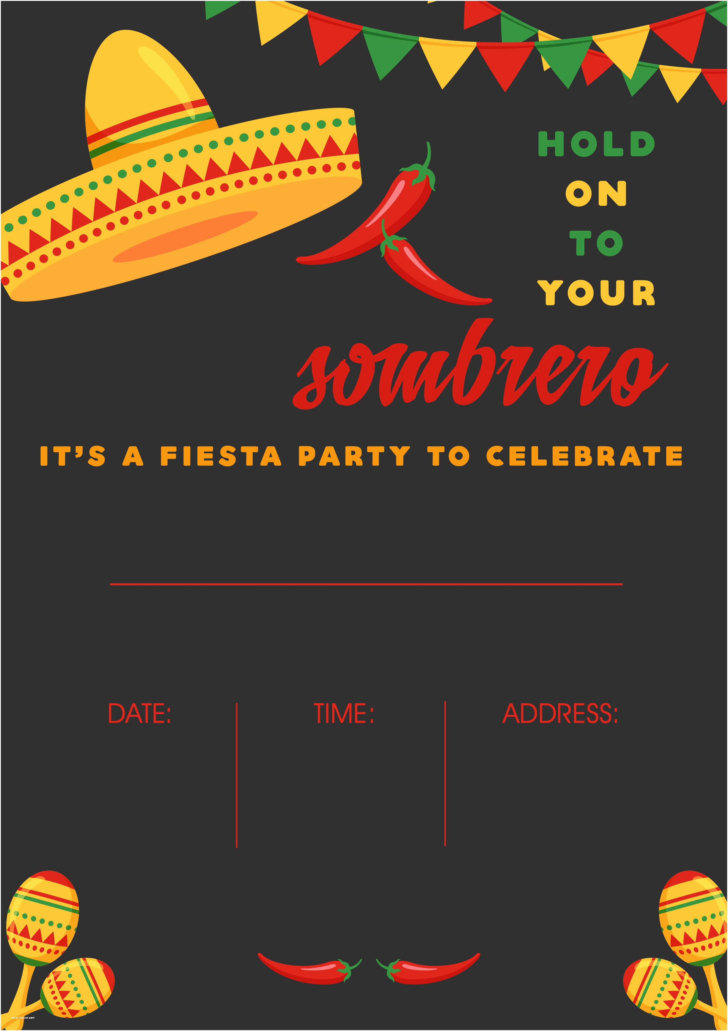 photo about Free Printable Fiesta Invitations titled Mexican themed Get together Invites No cost Mexican Get together