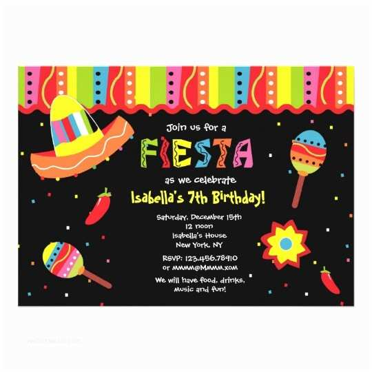 Mexican themed Party Invitations Mexican Fiesta Birthday Party Invitations