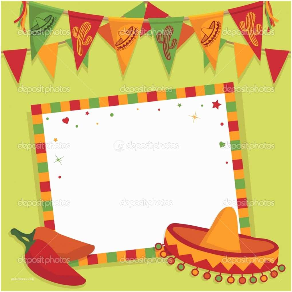 Mexican Themed Party Invitations Mexican Fiesta Invitation Templates