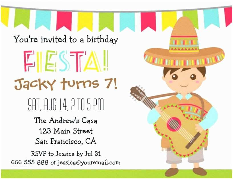 Themed Party Invitations  Fiesta Party Invitation Templates Free