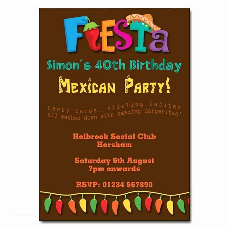 Mexican themed Party Invitations Mexican Party Invitations – Gangcraft