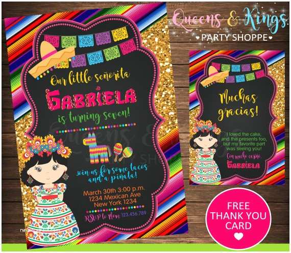 Mexican Themed Party Invitations Mexican Party Mexican Invitation Fiesta Invitation