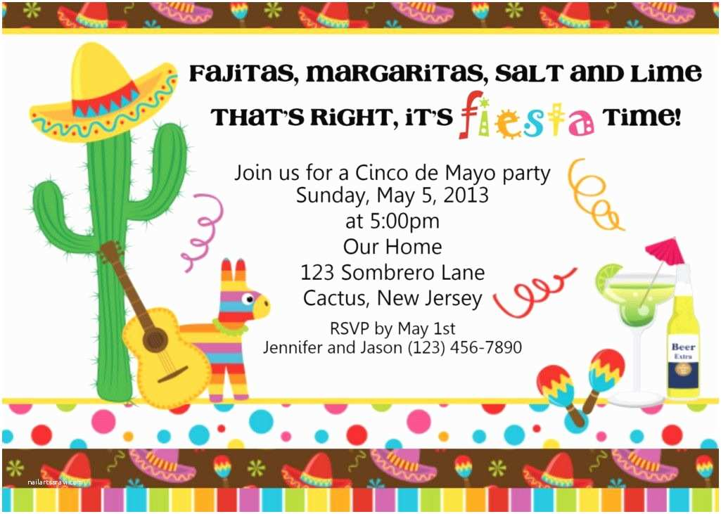Mexican Themed Party Invitations Mexican Themed Party