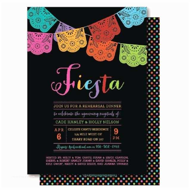 Mexican Themed Party Invitations Papel Picado Mexican Themed Party Rehearsal