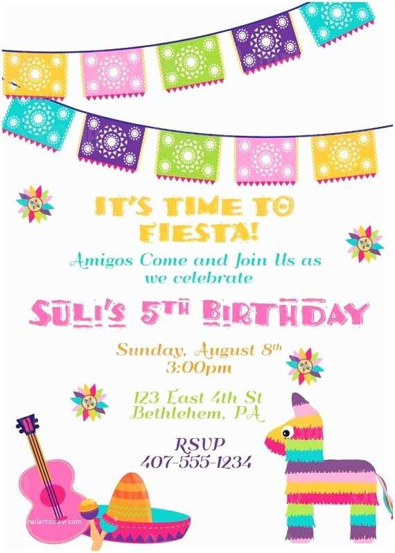 Mexican Themed Party Invitations Printable Fiesta Invitation 5 De Mayo Mexican