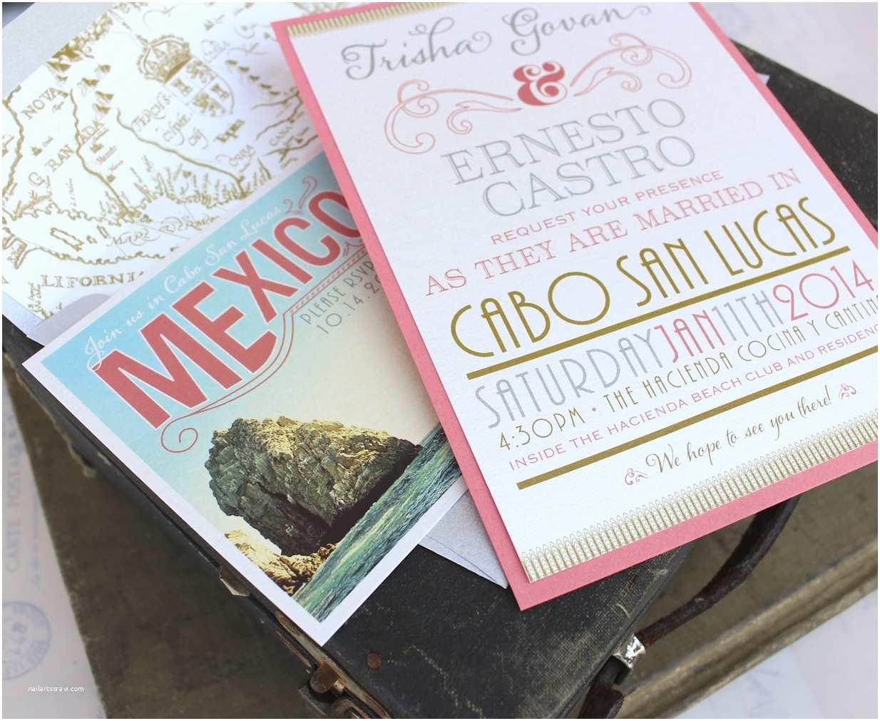 Mexican themed Wedding Invitations Beautiful Vintage Mexican Wedding Invitations